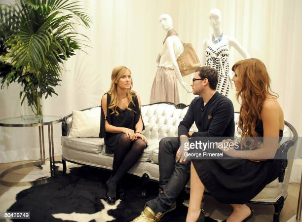 Lauren Conrad visits with MTV Hosts Dan Levy and Jessi Cruickshank as she launches her Womenwear at Holt Renfrew Yorkdale location on March 29 2008...