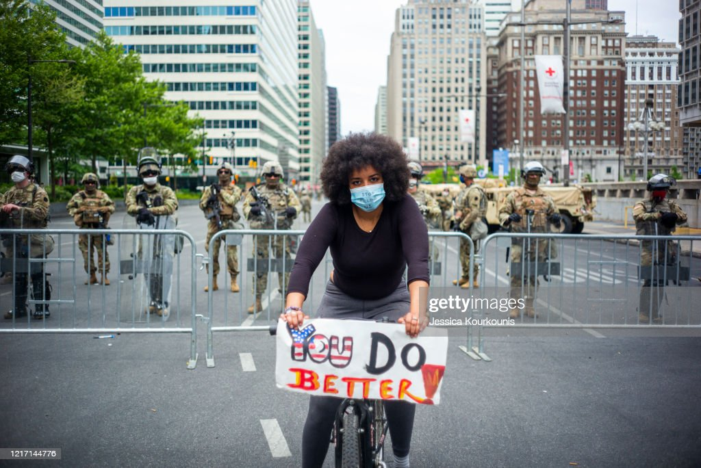 Protests Continue In Philadelphia In Response To Death Of George Floyd In Minneapolis : News Photo