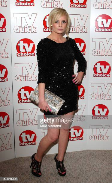 Lauren Crace attends the TV Quick Tv Choice Awards at The Dorchester on September 7 2009 in London England