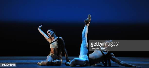 Lauren Cuthbertson and Ryoichi Hirano in the Royal Ballet's production of Christopher Wheeldon's Corybantic Games at the Royal Opera House on March...
