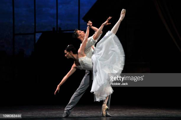 Lauren Cuthbertson and Vadim Muntagirov in Frederick Ashton's The Two Pigeons at The Royal Opera House on January 17 2019 in London England