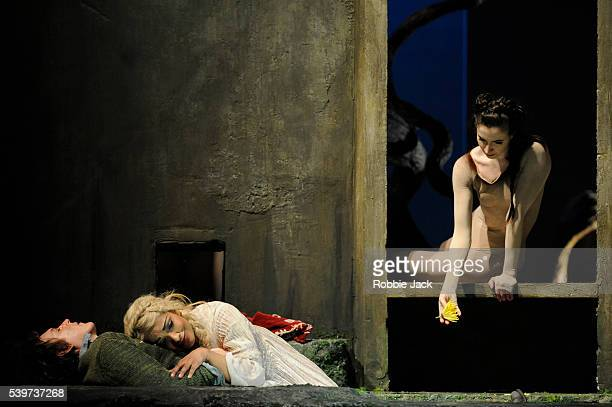 Lauren Cuthbertson as Galatea, Charles Workman as Acis and Danielle De Niese as Galatea in the Royal Opera's production on George Frideric Handel's...