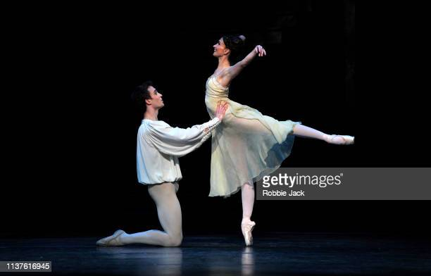 Lauren Cuthbertson as Juliet and Matthew Ball as Romeo in The Royal Ballet's production of Kenneth MacMillan's Romeo and Juliet at The Royal Opera...
