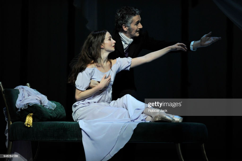 Lauren Cuthbertson as Marguerite and Gary Avis as Father in the Royal Ballet's production of Frederick Ashton's Marguerite and Armand at The Royal Opera House on April 13, 2018 in London, England.