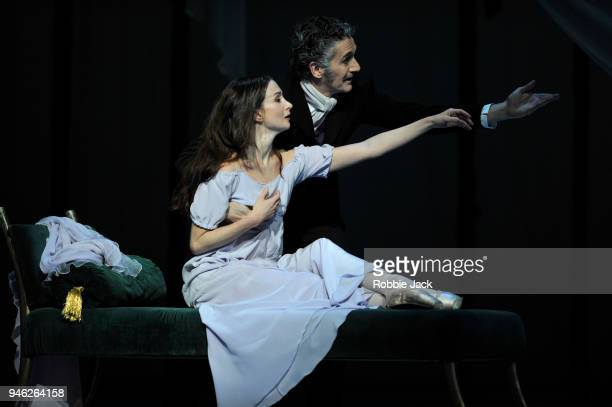 Lauren Cuthbertson as Marguerite and Gary Avis as Father in the Royal Ballet's production of Frederick Ashton's Marguerite and Armand at The Royal...