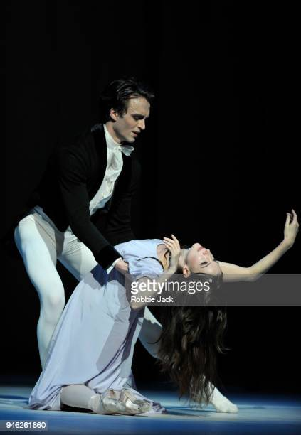 Lauren Cuthbertson as Marguerite and Matthew Ball as Armand in the Royal Ballet's production of Frederick Ashton's Marguerite and Armand at The Royal...