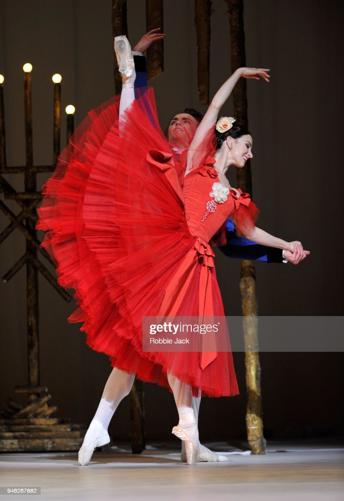 Lauren Cuthbertson as Marguerite and Matthew Ball as Armand in the Royal Ballet's production of Frederick Ashton's Marguerite and Armand at The Royal Opera House on April 13, 2018 in London, England.