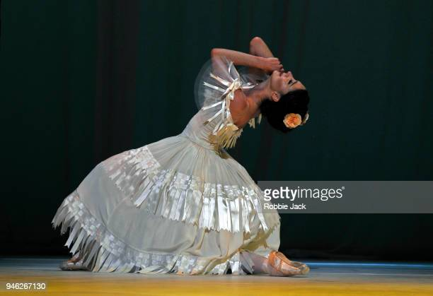 Lauren Cuthbertson as Marguerite in the Royal Ballet's production of Frederick Ashton's Marguerite and Armand at The Royal Opera House on April 13...