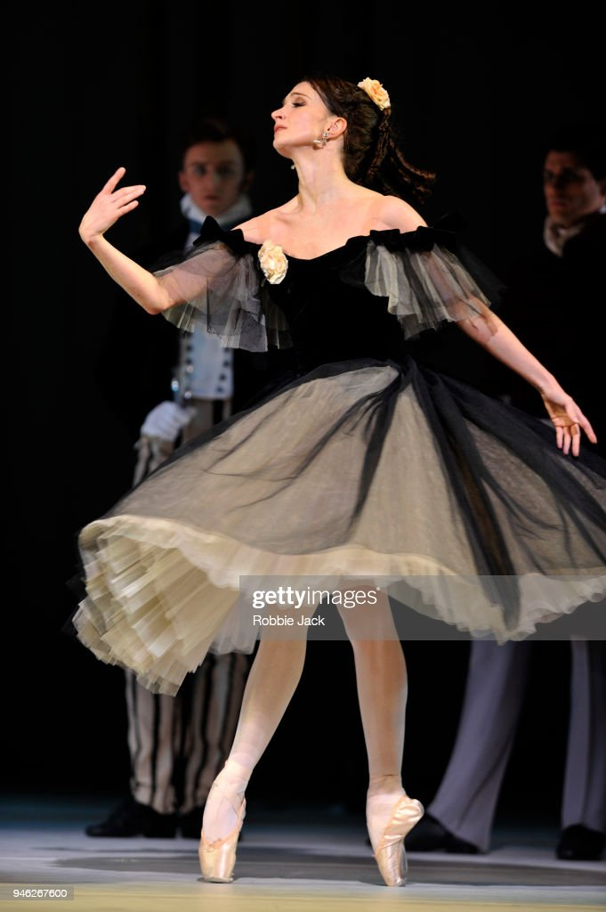 Lauren Cuthbertson as Marguerite in the Royal Ballet's production of Frederick Ashton's Marguerite and Armand at The Royal Opera House on April 13, 2018 in London, England.
