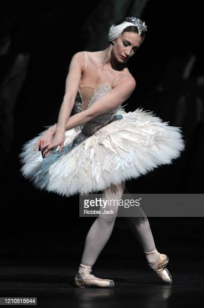 Lauren Cuthbertson as Odette/Odile in The Royal Ballet's production of Lev Ivanov and Marius Petipa's Swan Lake with added choreography by Liam...