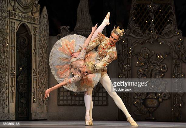 Lauren Cuthbertson as the Sugar Plum Fairy and Cory Stearns as the Prince in the Royal Ballet's production of Peter Wright's The Nutcracker at the...