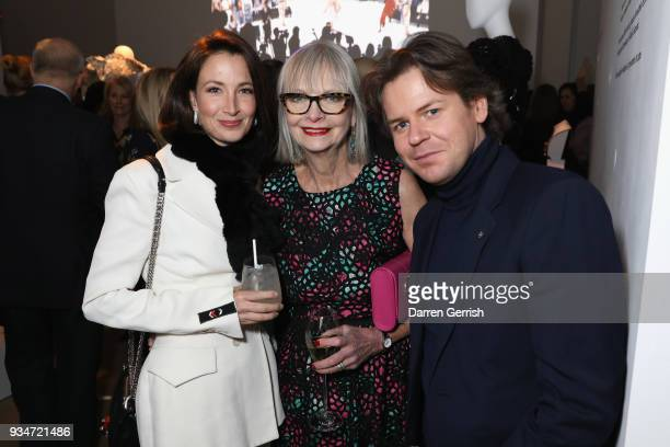 Lauren Cuthbertson Jan de Villeneuve and Christopher Kane attend Atelier Swarovski 10th Anniversary Book Launch at Phillips Gallery on March 19 2018...