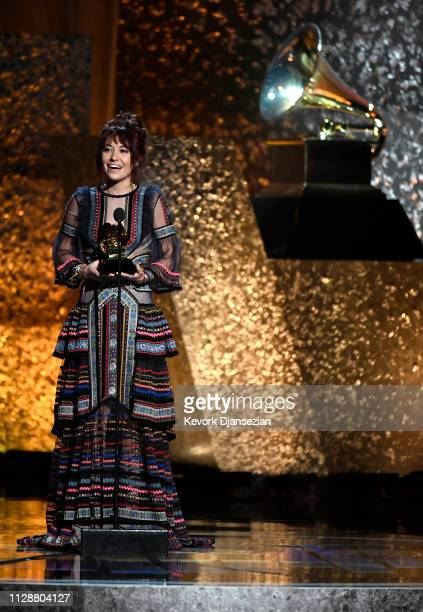 Lauren Daigle acceptds Best Contemporary Christian Music Performance/Song for 'You Say' at the premiere ceremony during the 61st annual GRAMMY Awards...