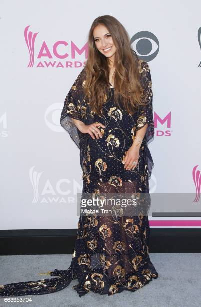 Lauren Daigle arrives at the 52nd Academy of Country Music Awards held at TMobile Arena on April 2 2017 in Las Vegas Nevada