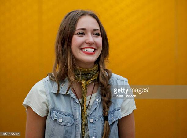 Lauren Daigle performs at a special inoffice performance at Rogers Cowan on May 19 2016 in Los Angeles California