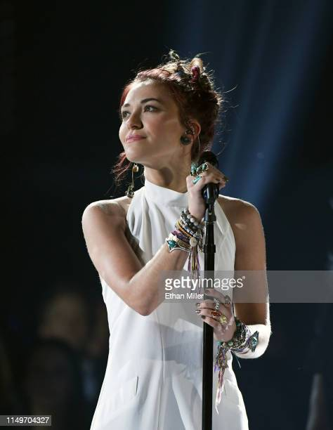 Lauren Daigle performs during the 2019 Billboard Music Awards at MGM Grand Garden Arena on May 1 2019 in Las Vegas Nevada