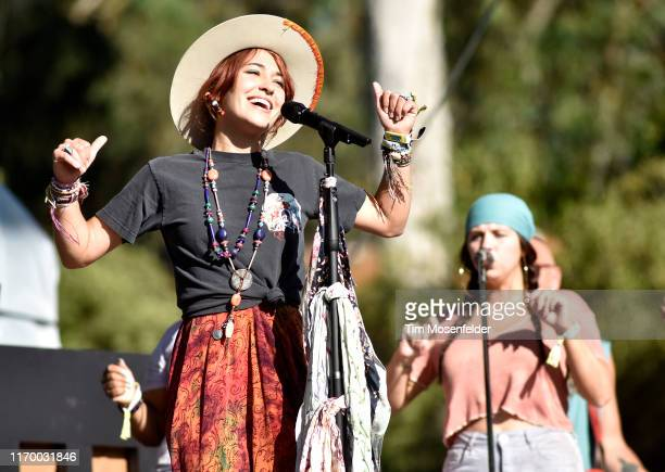 Lauren Daigle performs during the 2019 Outside Lands music festival at Golden Gate Park on August 09 2019 in San Francisco California