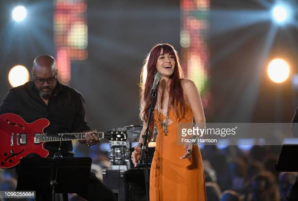Lauren Daigle performs onstage during MusiCares Person of the Year honoring Dolly Parton at Los Angeles Convention Center on February 8 2019 in Los...