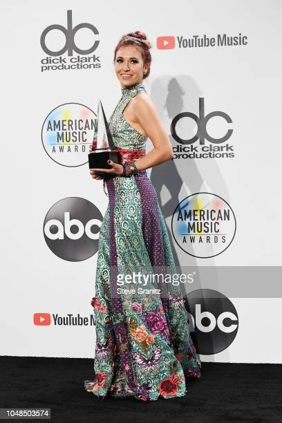 Lauren Daigle poses in the press room during the 2018 American Music Awards at Microsoft Theater on October 9 2018 in Los Angeles California