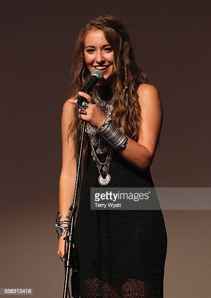 Lauren Daigle speaks in the e press room at the 4th Annual KLOVE Fan Awards at The Grand Ole Opry House on June 5 2016 in Nashville Tennessee