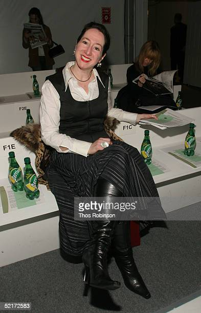 Lauren David Peden attends the Jeffrey Chow Fall 2005 fashion show during the Olympus Fashion Week at Bryant Park February 10 2005 in New York City
