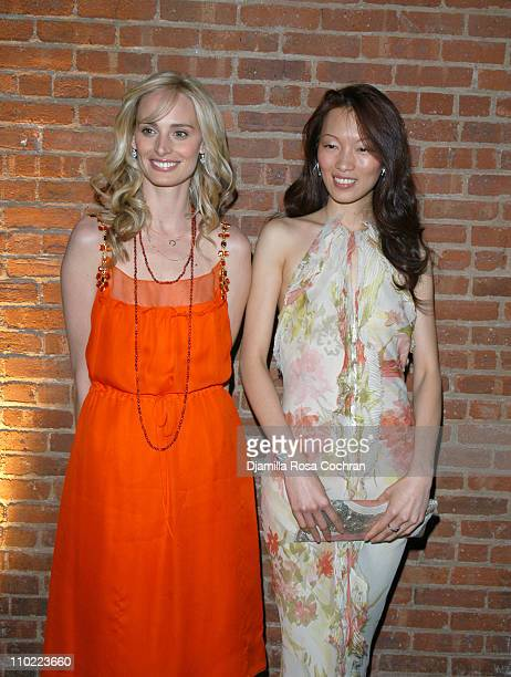 Lauren Davis and Ling Tan during Gotham Magazine Sponsors The Smile Collection to Benefit Operation Smile at Waterfront in New York City New York...