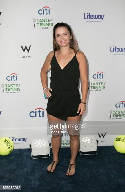Lauren Davis arrives at the Citi Taste Of Tennis Miami at W Hotel on March 20 2017 in Miami Florida