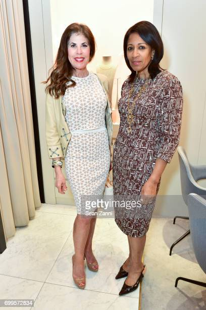 Lauren Day Roberts and Dr Amelia QuistOgunlesi attend QUEST Magazine Baubles Bubbly at Nirav Modi Boutique on June 21 2017 in New York City
