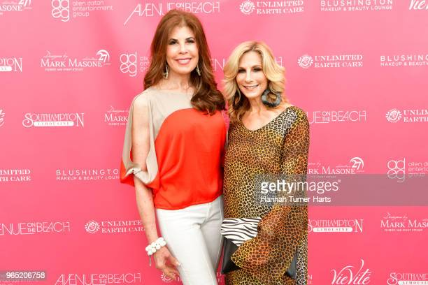 Lauren Day Roberts and Randi Schatz attend AVENUE on the Beach Celebrates Sailor Brinkley Cook And Our May/June Issue at Calissa on May 22 2018 in...