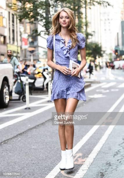 Lauren de Graaf attends the casting for the 2018 Victoria's Secret Show in Midtown on September 4, 2018 in New York City.