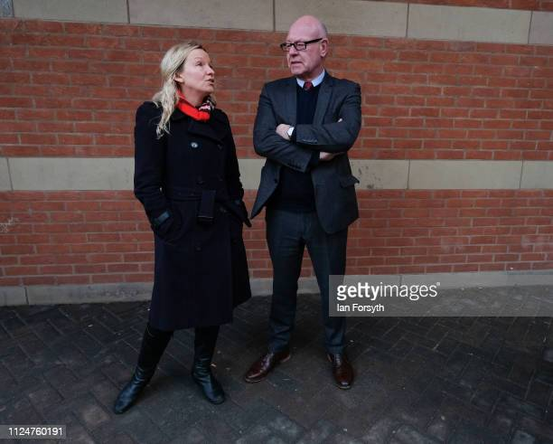 Lauren Dingsdale Middlesbrough South and East Cleveland candidate speaks to Councillor Mick Thompson speak during a visit by Labour leader Jeremy...