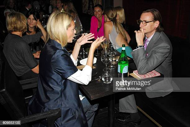 Lauren Dupont and Hamish Bowles attend CALVIN KLEIN COLLECTION Private Dinner hosted by JULIANNE MOORE and KATE BOSWORTH at Wakiya on September 11...
