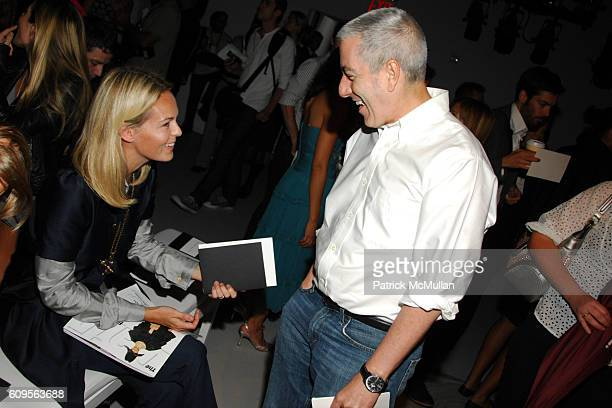 Lauren Dupont and Paul Cavaco attend CALVIN KLEIN COLLECTION Spring 2008 Fashion Show at Calvin Klein Inc on September 11 2007 in New York City
