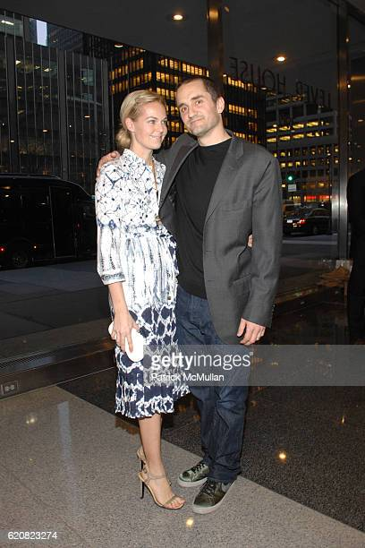 Lauren Dupont and Richard Dupont attend Opening of RICHARD DUPONT's TERMINAL STAGE at Lever House on March 13 2008 in New York City