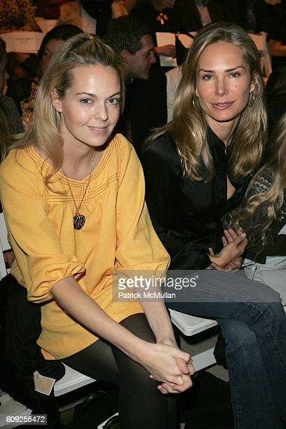 Lauren DuPont and Valesca GuerrandHermes attend Carlos Miele Fall 2007 Collection at The Tent on February 7 2007 in New York City