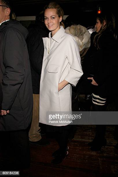 Lauren DuPont attends CALVIN KLEIN COLLECTION Fall 2007 Post Show Dinner at The Waverly Inn Garden on February 8 2007 in New York City