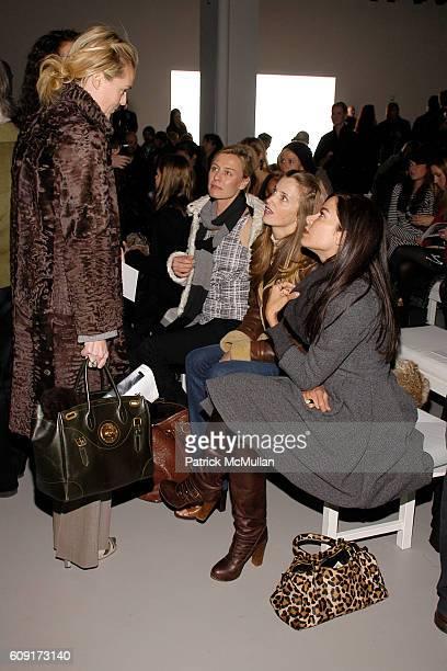 Lauren DuPont Renee Rockefeller Amanda Cutter Brooks and Allison Sarofim attend CALVIN KLEIN COLLECTION Fall 2007 Fashion Show at Calvin Klein Inc on...