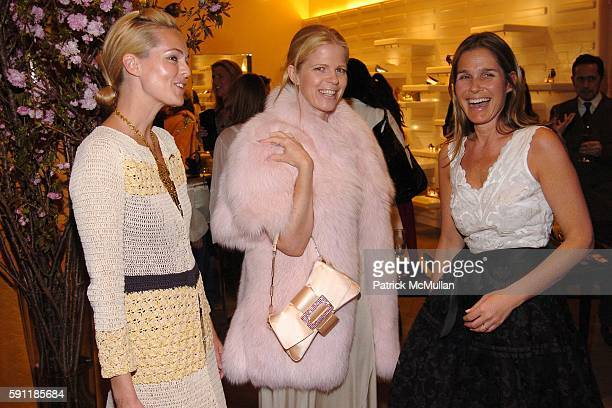 Lauren DuPont Yvonne Force Villareal and Aerin Lauder Zinterhofer attend Saks Fifth Avenue hosts a cocktail party to celebrate the ROGER VIVIER...