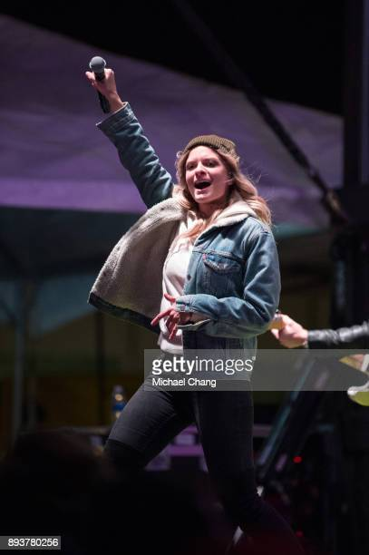 Lauren Duski performs during Base*FEST Powered by USAA on December 15 2017 at Naval Air Station Pensacola Florida