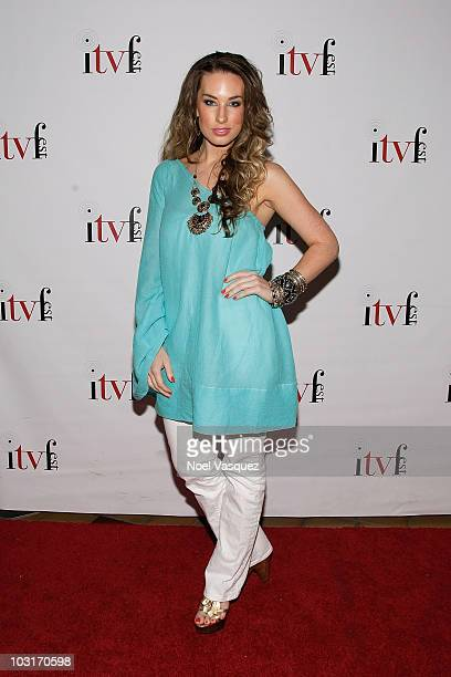 Lauren Elaine attends the 5th annual Independent Television Festival opening night red carpet gala at Laemmle's Sunset 5 on July 29 2010 in West...