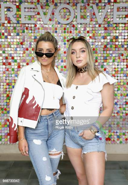Lauren Elizabeth and Alexa Losey attend #REVOLVEfestival Day 2 on April 15, 2018 in La Quinta, California.