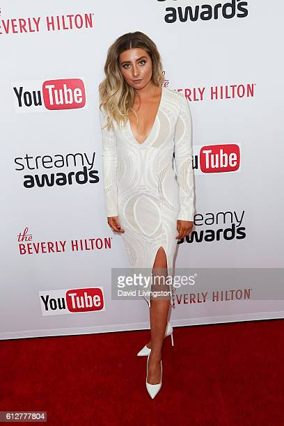 Lauren Elizabeth arrives at the 2016 Streamy Awards at The Beverly Hilton Hotel on October 4 2016 in Beverly Hills California