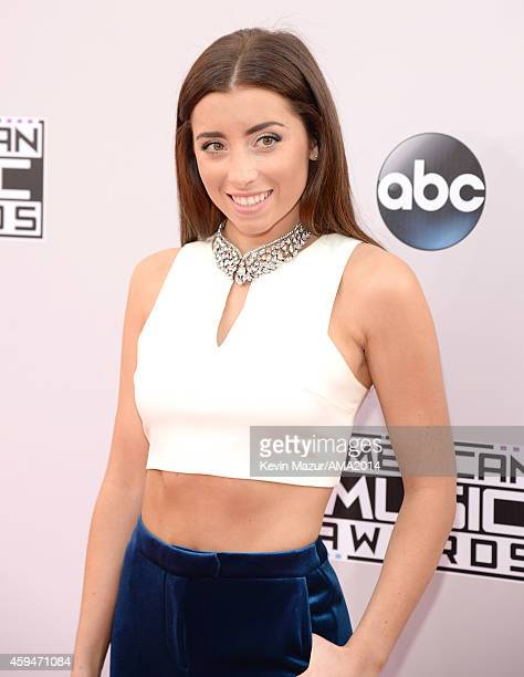 Lauren Elizabeth attends the 2014 American Music Awards at Nokia Theatre LA Live on November 23 2014 in Los Angeles California