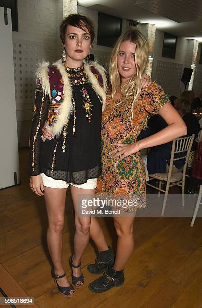 Lauren Estelle Jones and Gracie Egan attend Krug Island a food and music experience hosted by Krug champagne on September 1 2016 in Maldon England