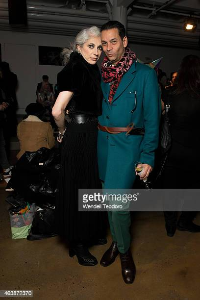 Lauren Ezersky and James Aguiar attends The Blonds fashion show during MADE Fashion Week Fall 2015 at Milk Studios on February 18, 2015 in New York...