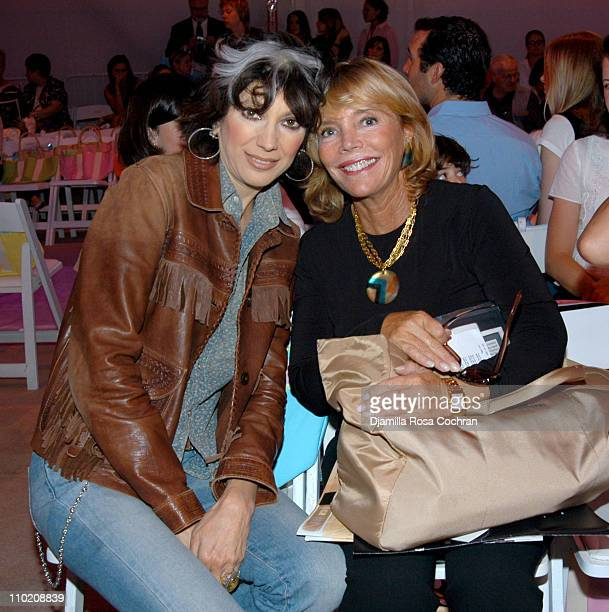 Lauren Ezersky and Judy Licht during Olympus Fashion Week Spring 2005 Lilly Pulitzer Front Row at Plaza Tent Bryant Park in New York City New York...