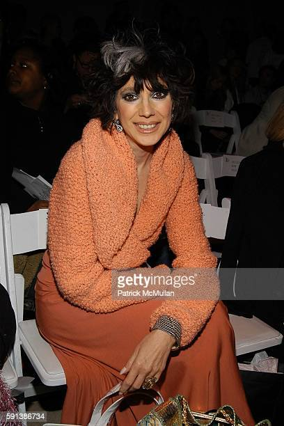Lauren Ezersky attends Esteban Cortazar Fall 2005 Fashion Show at The Plaza at Bryant Park on February 6 2005 in New York City