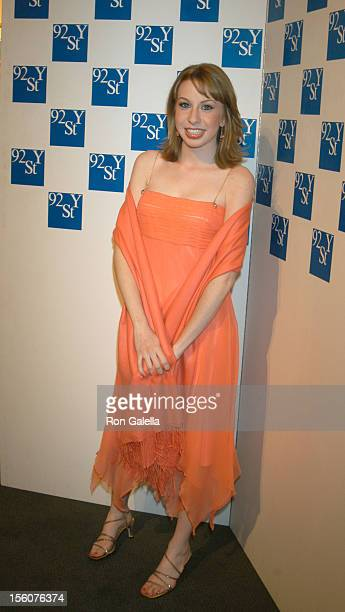 Lauren Frost during Comedy Tonight A Night of Comedy to Benefit the 92nd Street Y at 92nd Street Y in New York City New York United States