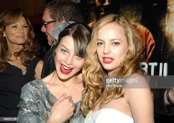 Lauren German and Bijou Phillips during Lionsgate Hosts Special Screening of Hostel Part II Red Carpet at Mann's Chinese 6 in Hollywood California...