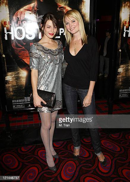 Lauren German and Sunny Mabrey during Hostel Part II Los Angeles Premiere Arrivals at Mann's Chinese 6 in Hollywood California United States